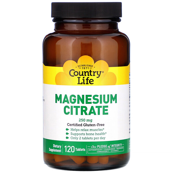 Magnesium Citrate, 250 mg, 120 Tablets