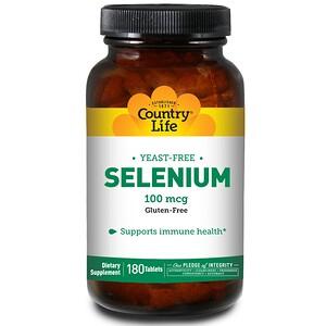 Кантри Лайф, Selenium, 100 mcg, 180 Tablets отзывы