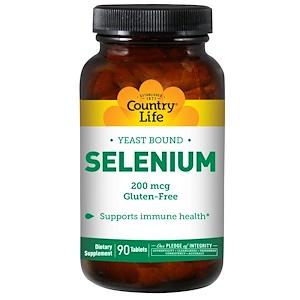 Кантри Лайф, Selenium, 200 mcg, 90 Tablets отзывы