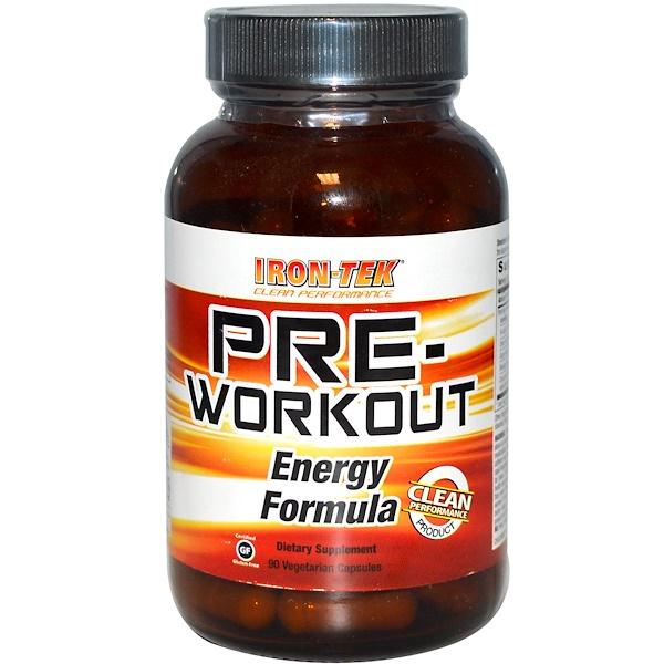 Country Life, Iron-Tek, Pre-Workout Energy Formula, 90 Veggie Caps (Discontinued Item)