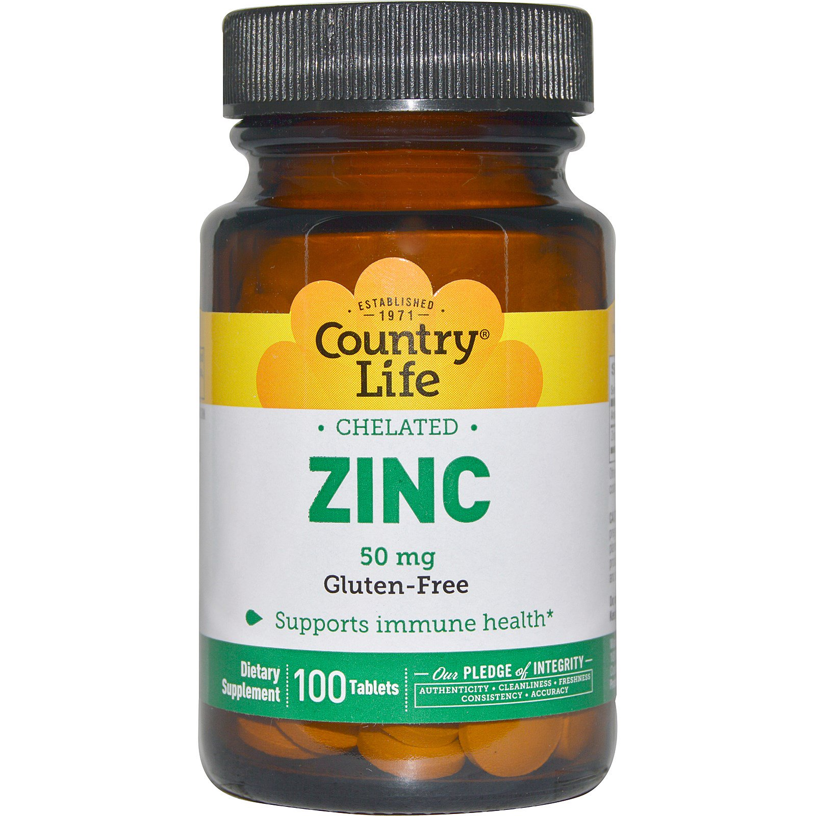 Country Life Zinc Chelated 50 Mg 100 Tablets Iherb Com
