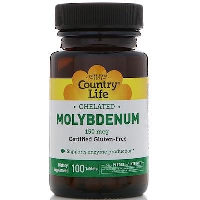 Купить Молибден, хелатный, 150 мкг, 100 таблеток