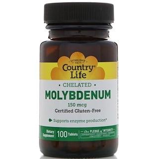 Country Life, MolybdΣn-Chelatverbindung, 150 ╡g, 100 Tabletten