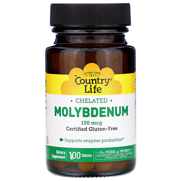 Chelated Molybdenum, 150 mcg, 100 Tablets