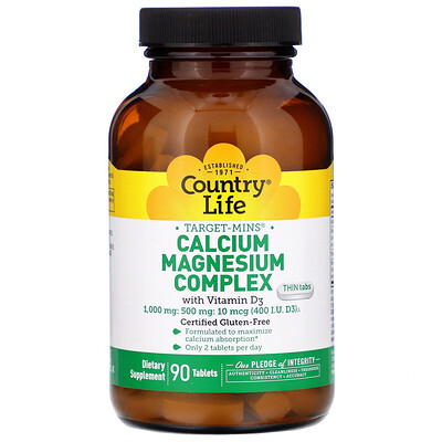 купить Calcium Magnesium Complex with Vitamin D3, 90 Tablets в интернет-магазине