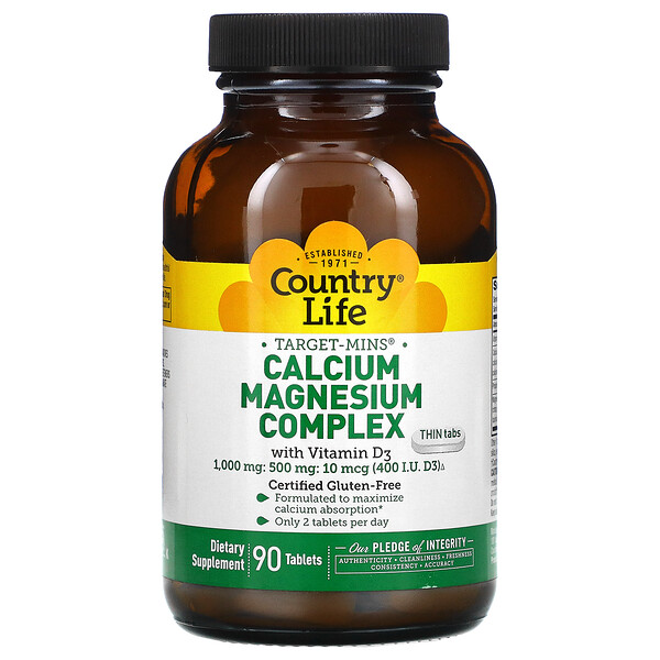 Calcium Magnesium Complex with Vitamin D3, 90 Tablets