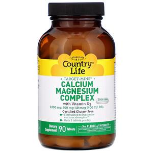 Кантри Лайф, Target-Mins Calcium Magnesium Complex with Vitamin D3, 90 Tablets отзывы
