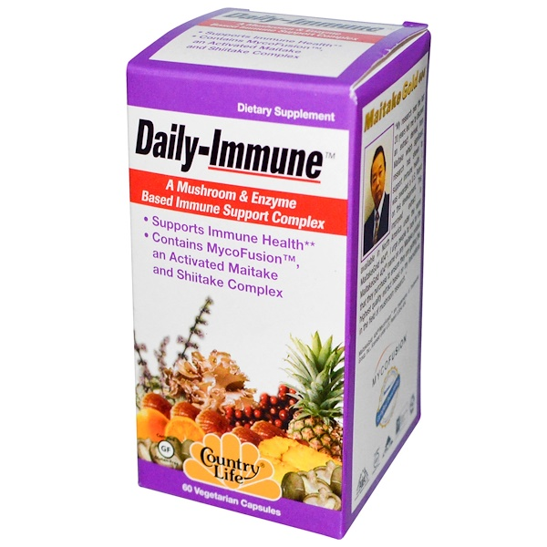Country Life, Daily-Immune, 60 Veggie Caps (Discontinued Item)