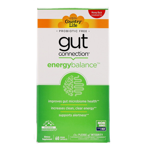 Country Life, Gut Connection, Energy Balance, 60 Vegan Capsules