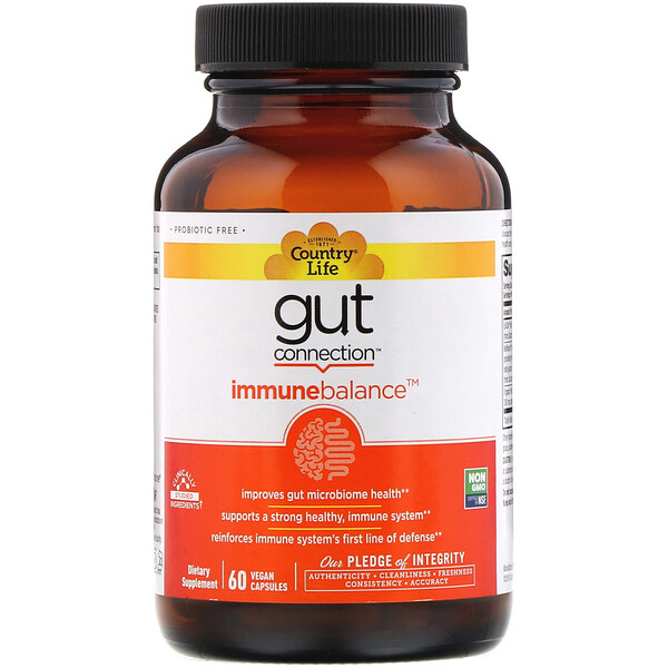 Country Life, Gut Connection, Immune Balance, 60 Vegan Capsules