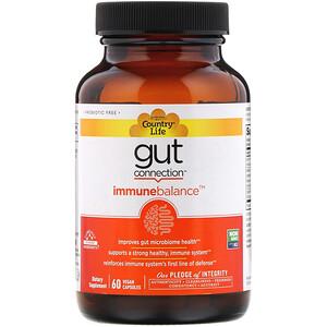 Кантри Лайф, Gut Connection, Immune Balance, 60 Vegan Capsules отзывы
