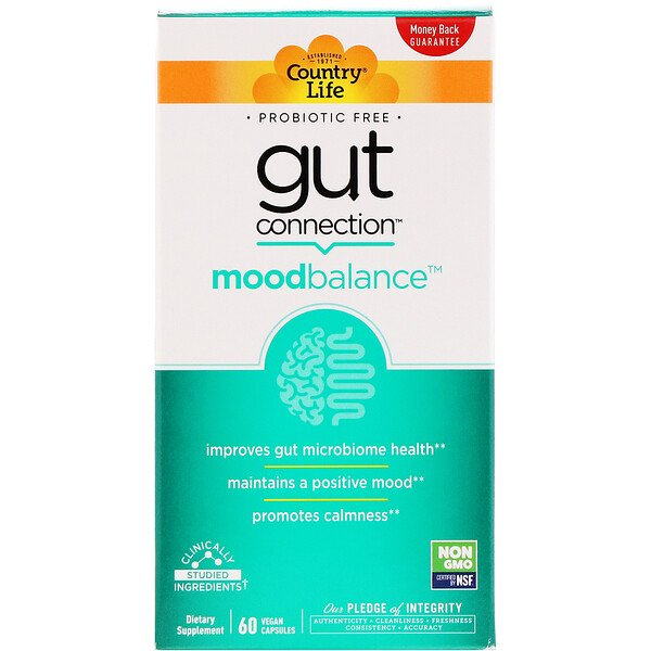 Country Life, Gut Connection, Mood Balance, 60 Vegan Capsules