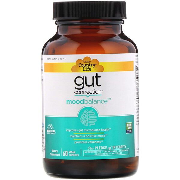 Gut Connection, Mood Balance, 60 Vegan Capsules