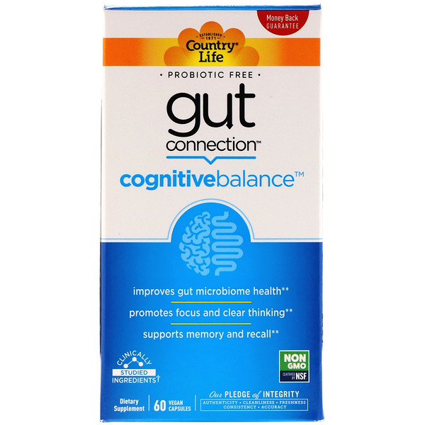 Country Life, Gut Connection, Cognitive Balance, 60 Vegan Capsules