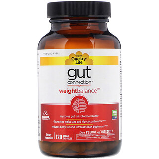 Country Life, Gut Connection, Weight Balance, 120 Vegan Capsules