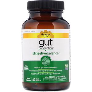 Кантри Лайф, Gut Connection, Digestive Balance, 60 Vegan Capsules отзывы