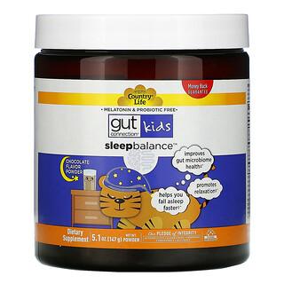 Country Life, Gut Connection Kids, Sleep Balance, Chocolate Flavor Powder, 5.1 oz (147 g)