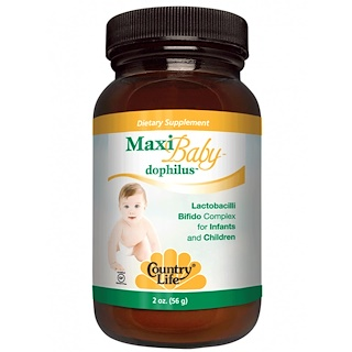 Country Life, Maxi Baby Dophilus, Powder, 2 oz (56 g)