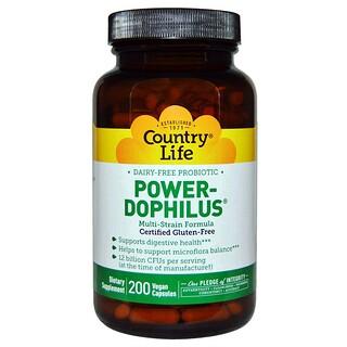 Country Life, Power-Dophilus, 200 Vegan Caps