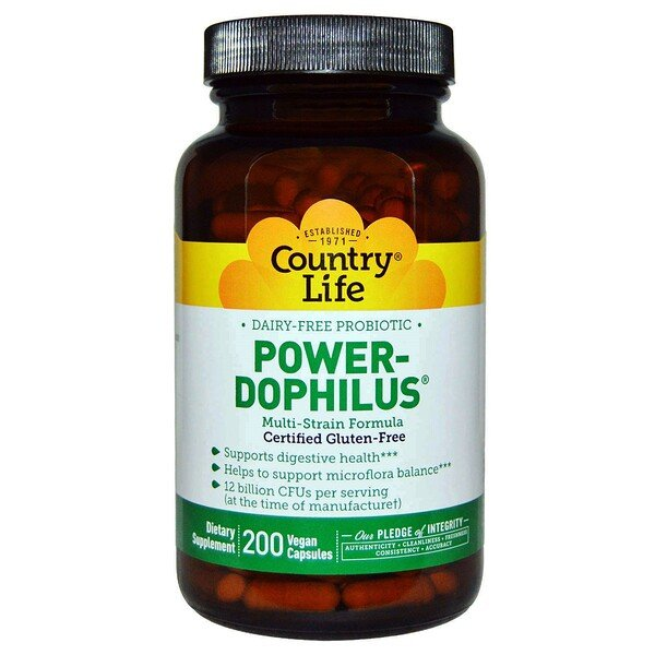 Country Life, Power-Dophilus, 200 Vegan Caps