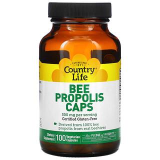 Country Life, Bee Propolis Caps, 500 mg, 100 Vegetarian Capsules