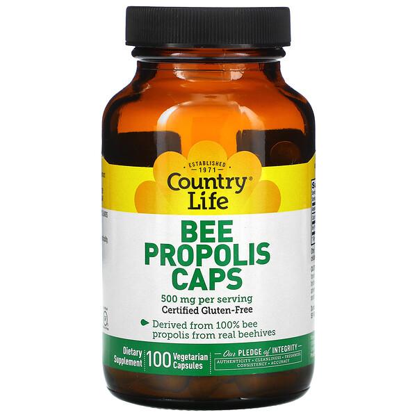 Пчелиный прополис, 500 мг, 100 % вегетарианские капсулы