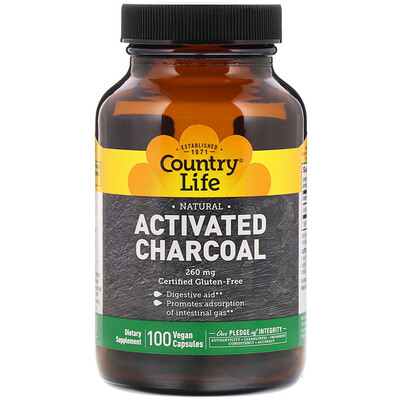 Activated Charcoal, 260 mg, 100 Vegan Capsules