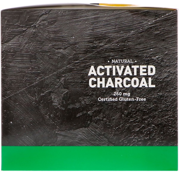 Country Life, Natural Activated Charcoal, 260 mg, 20 Packets, 2 Vegan Capsules Each (Discontinued Item)