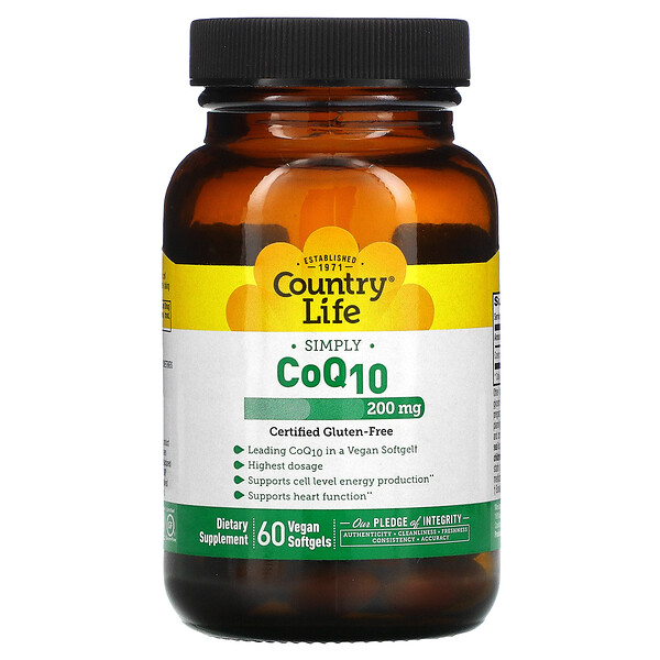 Simply CoQ10, 200 mg, 60 Vegan Softgels