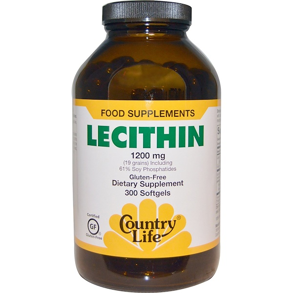 Country Life, Lecithin, 1200 mg, 300 Softgels