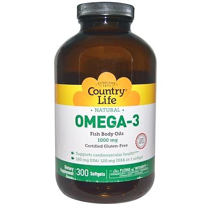 Купить Омега-3, 1000 мг, 300 мягких капсул