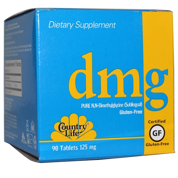 Country Life, DMG, 125 mg, 90 Tablets (Discontinued Item)