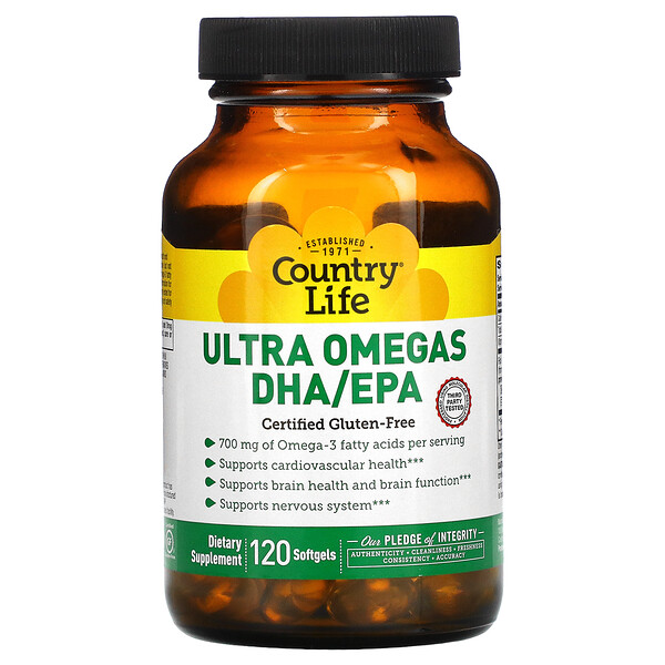 Ultra Omegas DHA/EPA, 120 Softgels