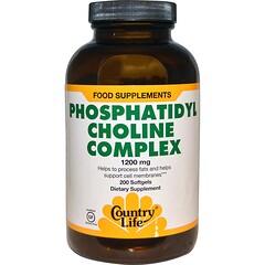 Country Life, Phosphatidyl Choline Complex, 1200 mg, 200 Softgels