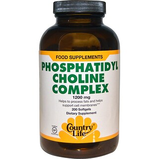 Country Life, Phosphatidyl Choline Complex, 1200 mg, 200 Softgels
