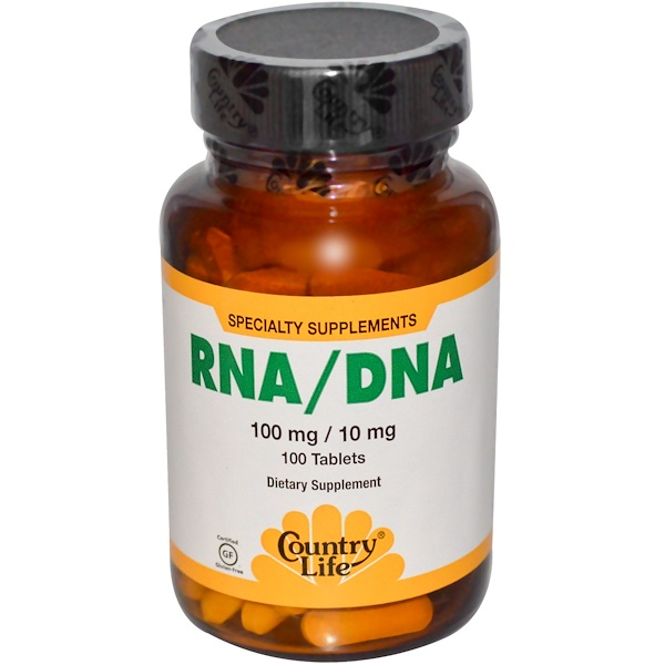 Country Life, RNA / DNA, 100 mg / 10 mg, 100 Tablets (Discontinued Item)