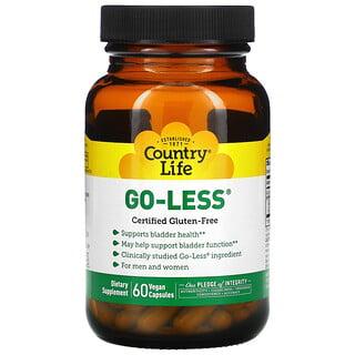 Country Life, Go Less, Supports Bladder Health, for Men & Women, 60 Vegan Capsules