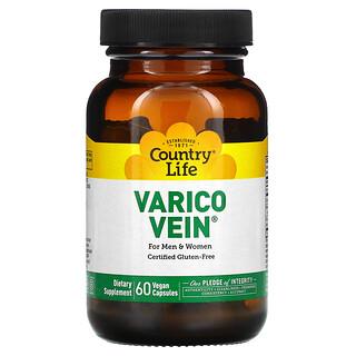 Country Life, VaricoVein for Men & Women, 60 Vegan Capsules