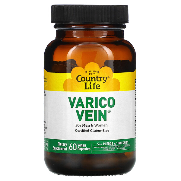 VaricoVein for Men & Women, 60 Vegan Capsules