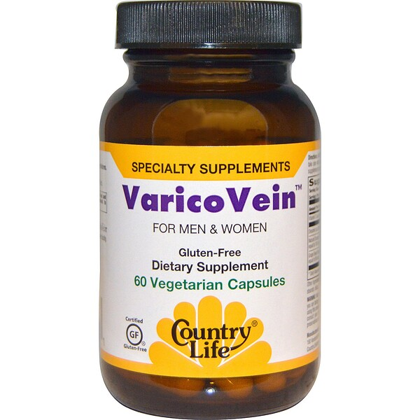 Country Life, VaricoVein for Men & Women, 60 Vegetarian Capsules