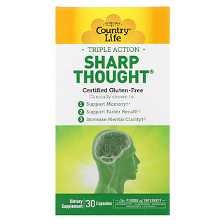 Country Life, Triple Action Sharp Thought, 30 Capsules