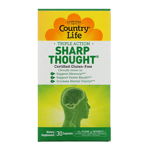 Triple Action SharpThought, 30 Capsules