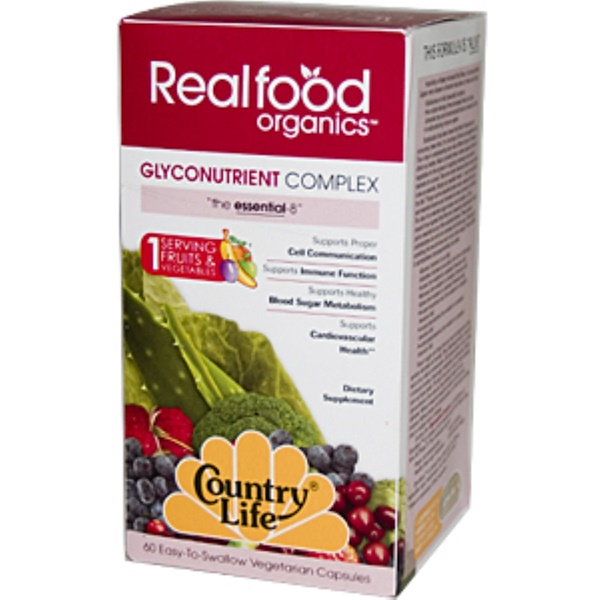 Country Life, Realfood Organics, Glyconutrient Complex, 60 Veggie Caps (Discontinued Item)