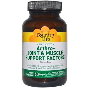 Country Life, Arthro - факторы поддержки суставов и мышц, 60 желатиновых капсул