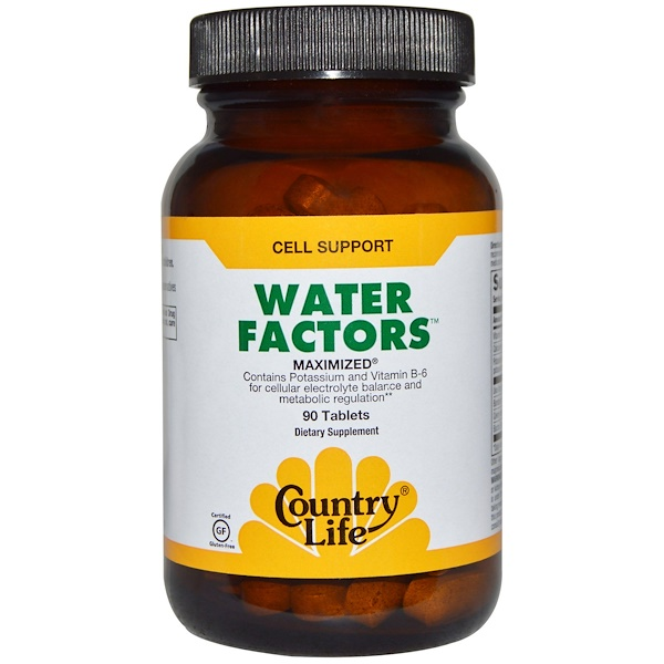 Country Life, Water Factors, Maximized, 90 Tablets (Discontinued Item)