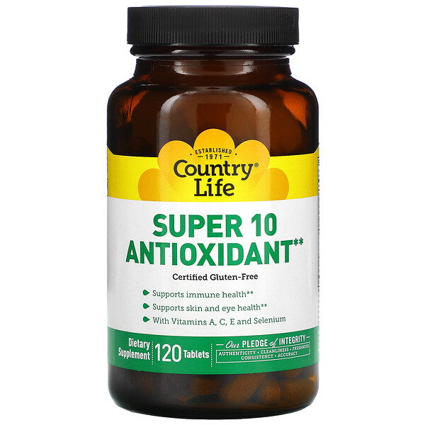 Super 10 Antioxidante, 120 Tabletas