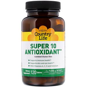 Кантри Лайф, Super 10 Antioxidant, 120 Tablets отзывы