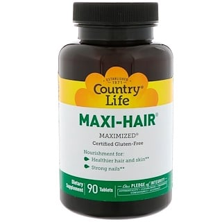 Country Life, Maxi-Hair, 90 Tablettes