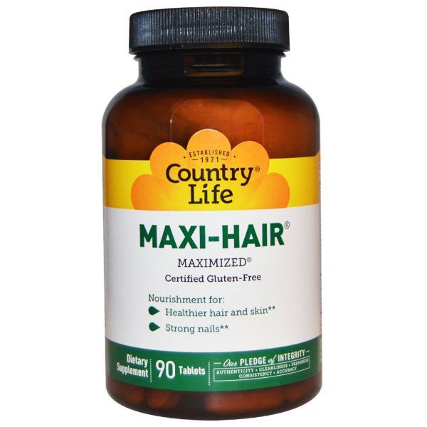 Country Life, Maxi-Hair, 90 comprimidos