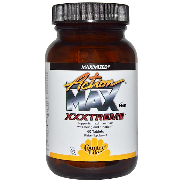 Country Life, Action Max Xxxtreme, for Men, 60 Tablets (Discontinued Item)